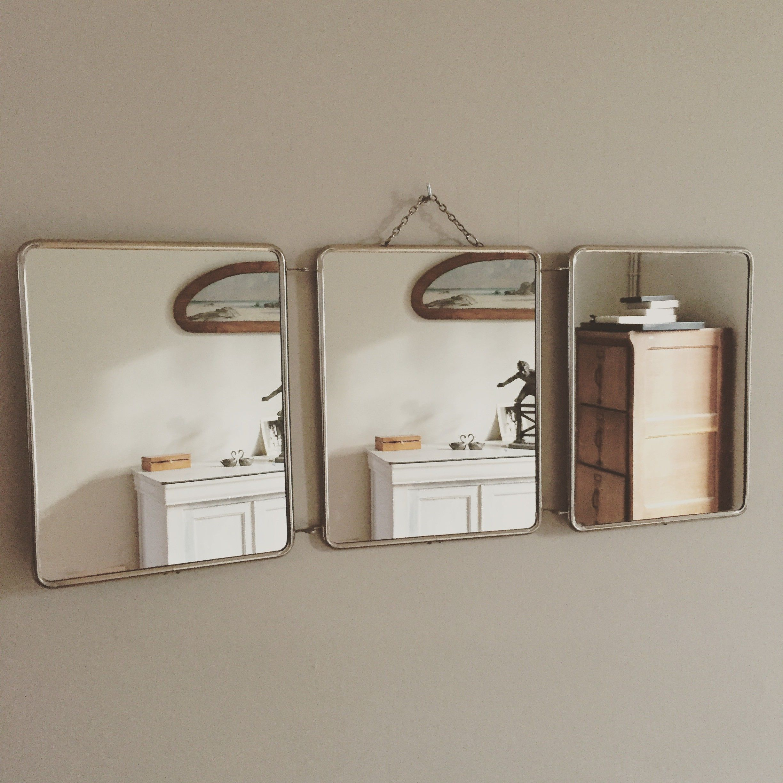 Miroirs de barbier carr s vintage miroir barbier carr vintage d coration miroir for Miroir de barbier