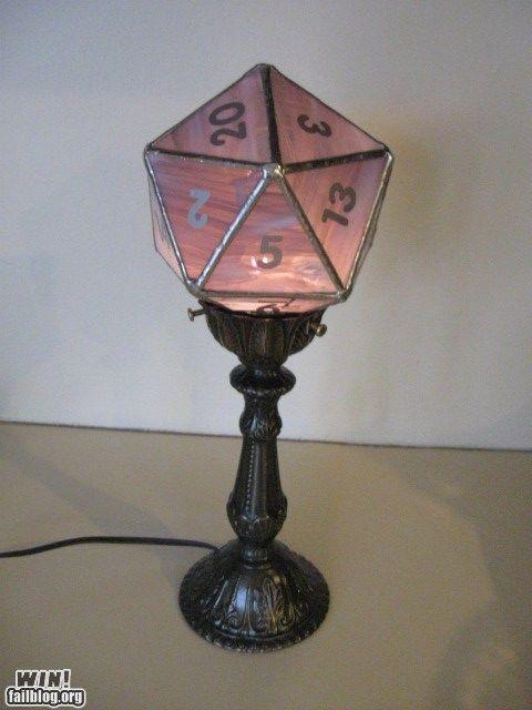 d20 lamp win i m such a nerd geek dork pinterest game rooms