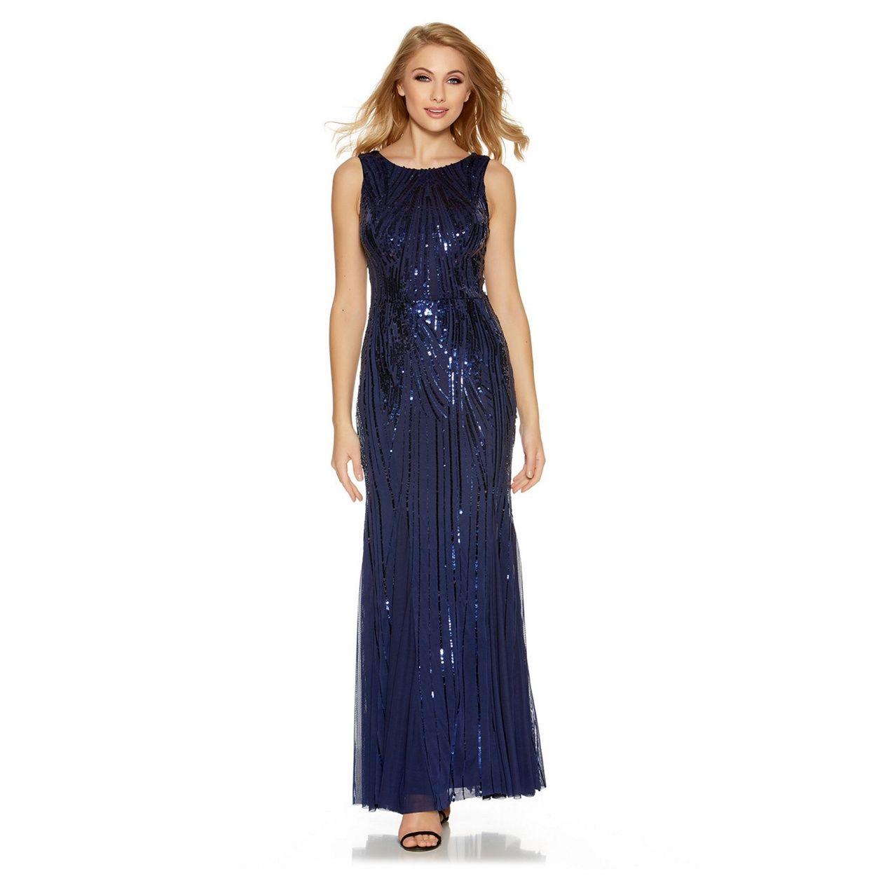 Next blue glam maxi dress