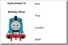 Thomas Birthday Invitation Templates