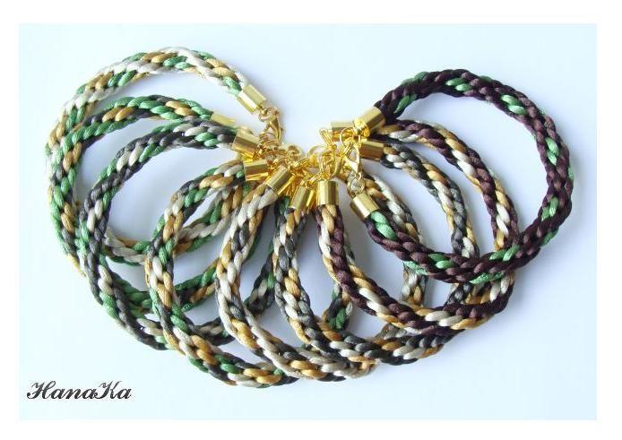 Wyplatane ręcznie bransoletki by HanaKa, kolekcja inspirowana barwami natury :)