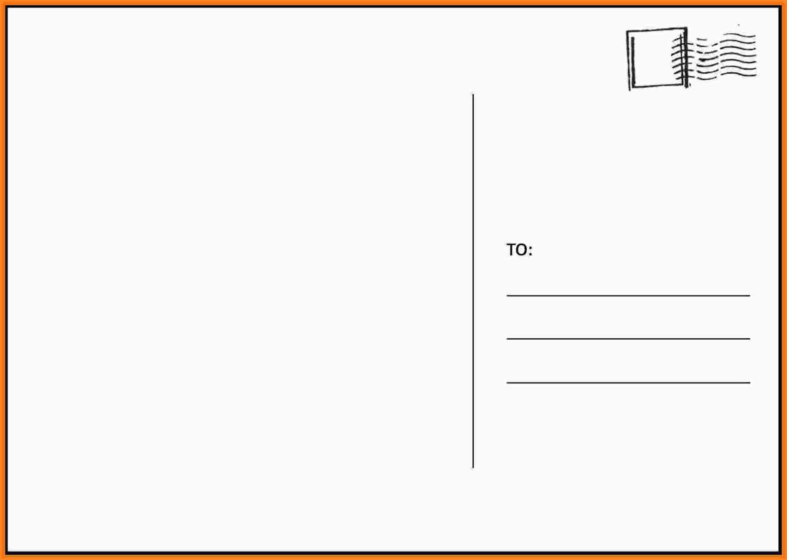 Free Printable Postcard Templates In Microsoft Word 4x6 Postcard