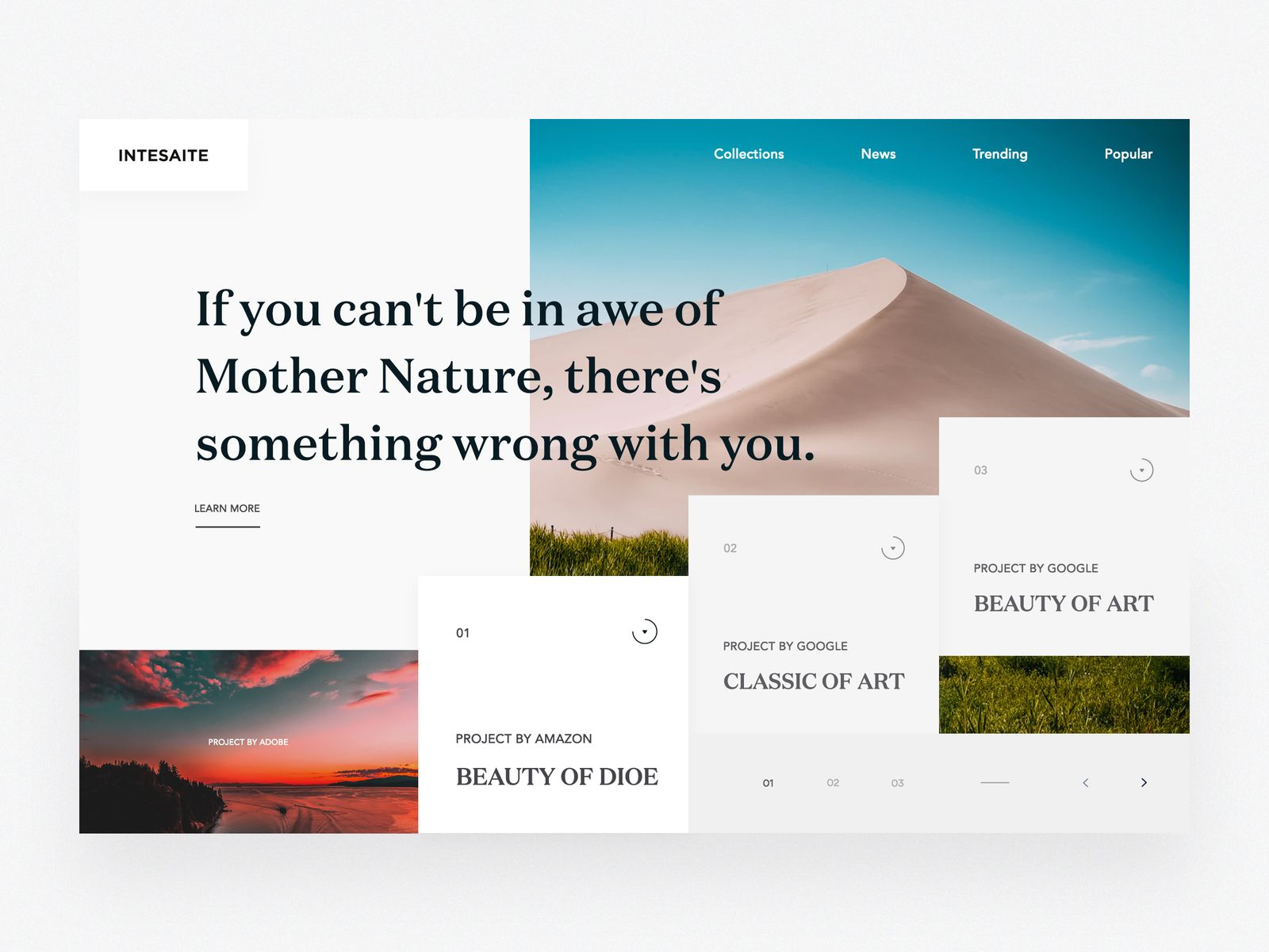 nature portfolio concept 03 web design web design inspiration rh pinterest com