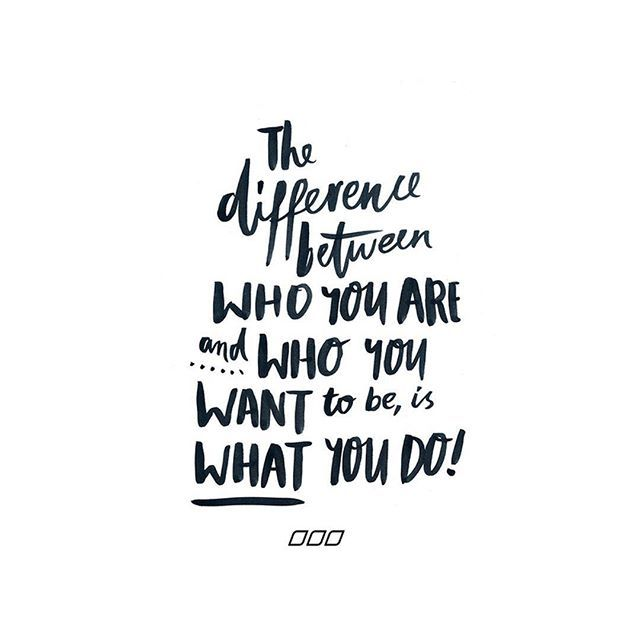 So do something different to be the difference!