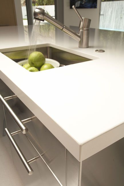 Caesarstone is a beautiful engineered stone which adds a - Engineered stone bathroom countertops ...