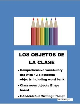 This Classroom Objects packages is very helpful to teach classroom objects to students.  The package includes- Vocabulary worksheet with twelve classroom objects and Word bank.  This worksheet includes the determinate articles in Spanish el, la , las, los.