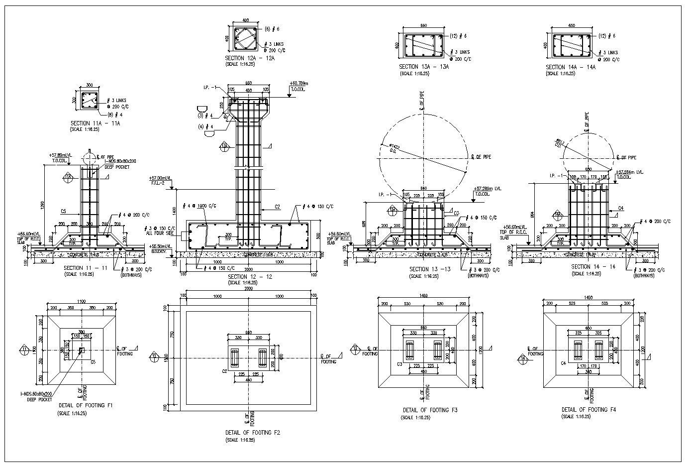 Foundation Details V2 | Auto CAD | Building foundation, Paving