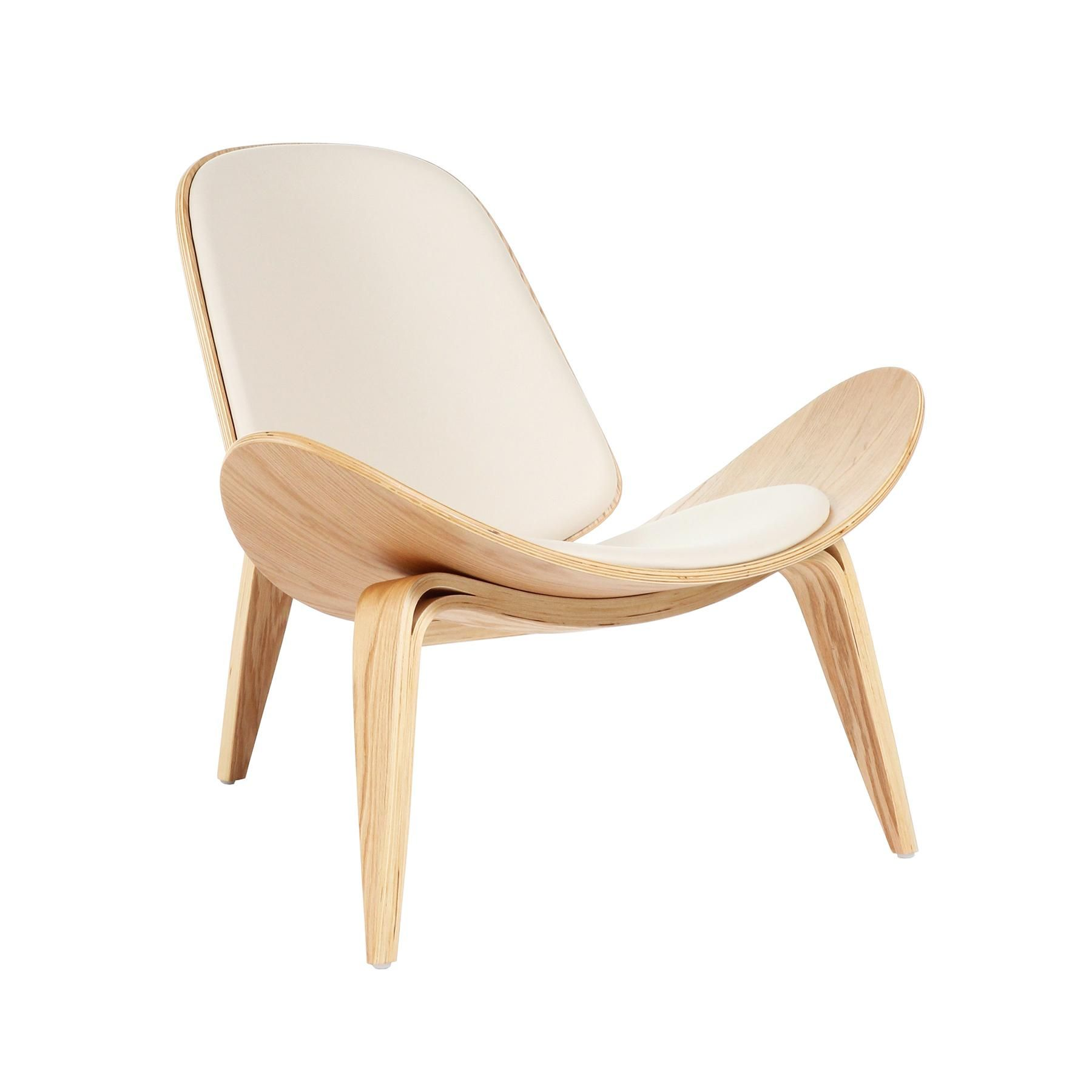 Control Brand Bishop Chair, White Iconic Design Features Wing Like Lines