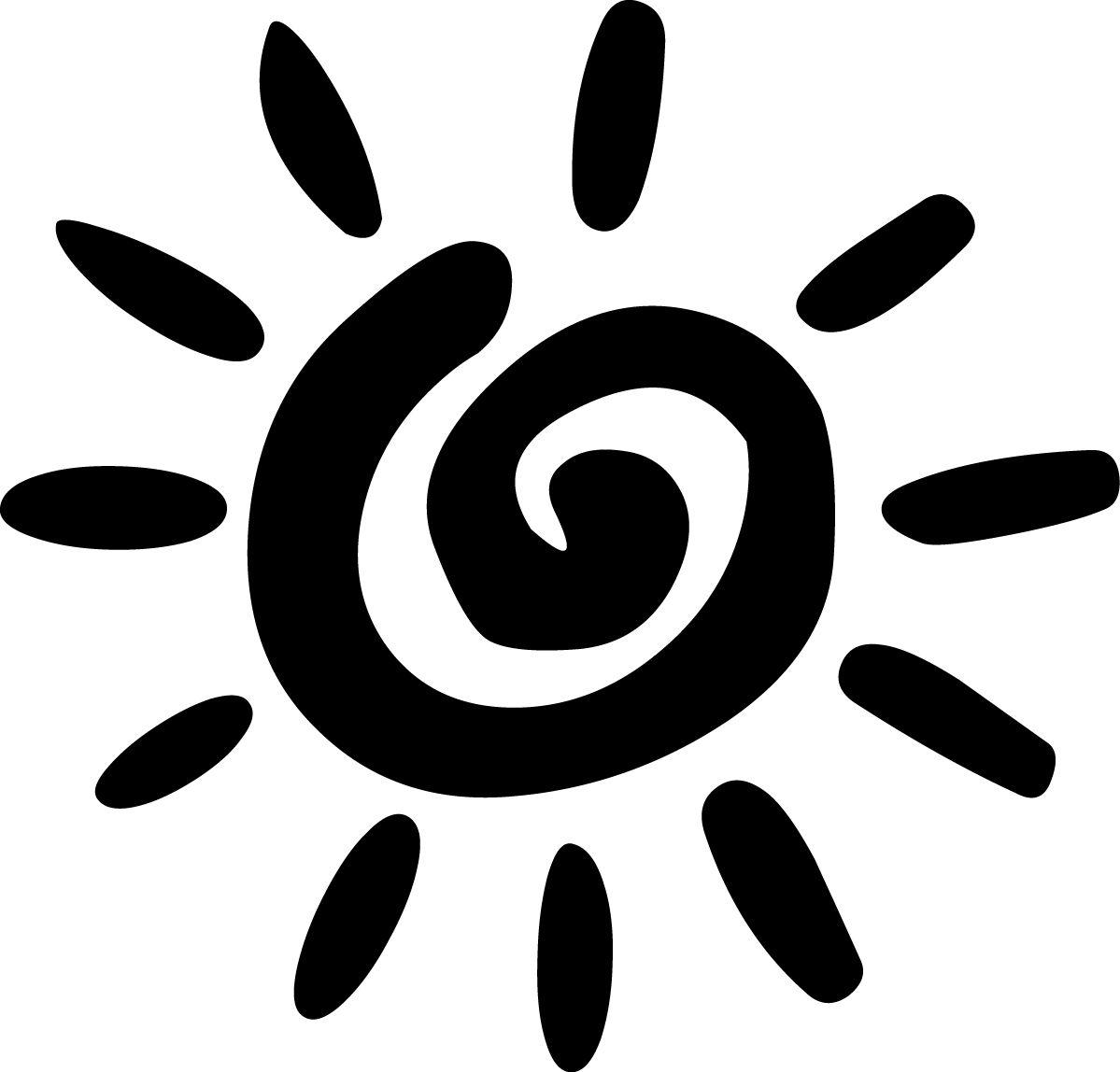 Sun Clip Art Black And White