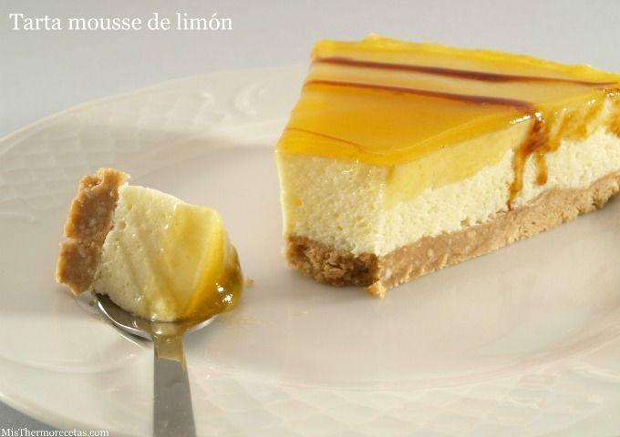 Tarta mousse de limón » MisThermorecetas