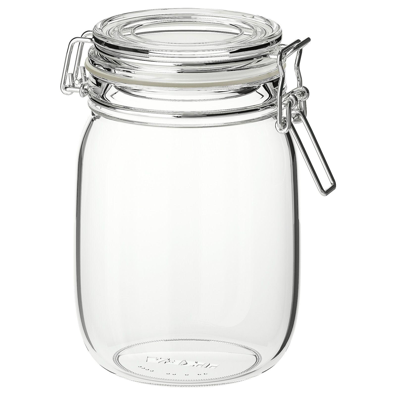 Bocal Avec Couvercle Verre Transparent 1 L Korken Ikea In 2020 Food Storage Organization Jar Dry Food Storage