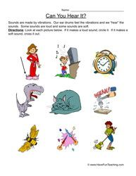 Sound Worksheet Can You Hear It 1st Grade Worksheets Have