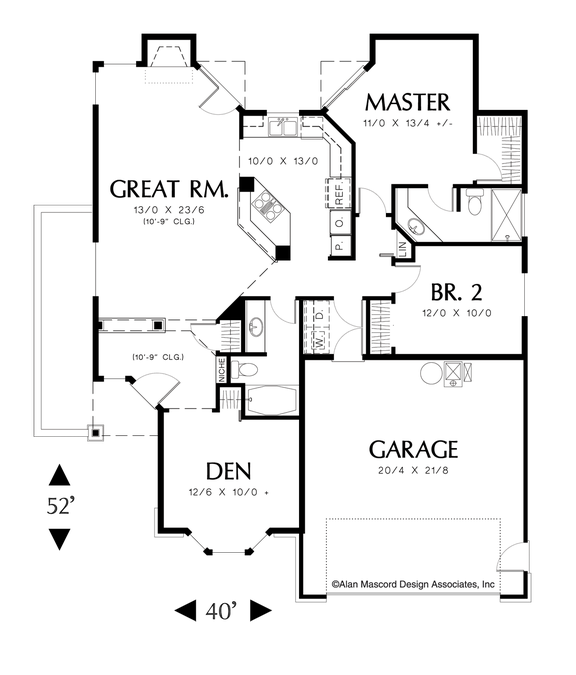 image for naylor great room plan with bay window in den main floor rh pinterest com