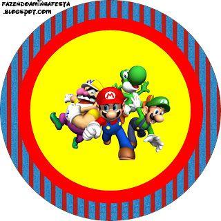 Super Mario Bros - Kit Completo com molduras para convites, rótulos para…