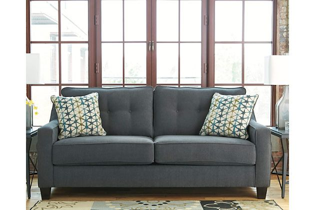 dark gray shayla queen sofa sleeper 764 99 ashley furniture home rh pinterest com