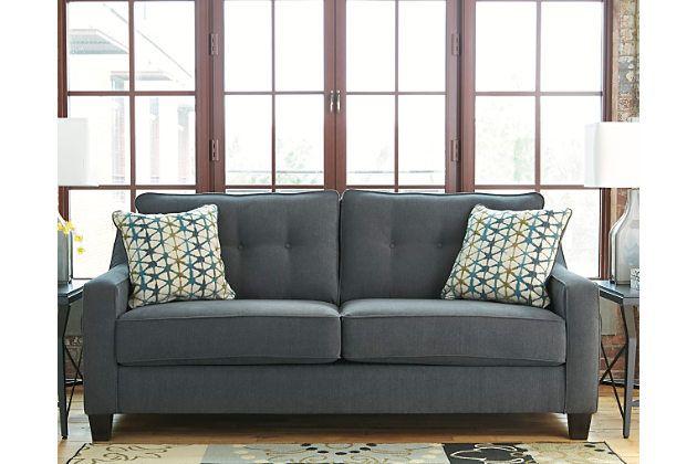 Enjoyable Dark Gray Shayla Queen Sofa Sleeper 764 99 Ashley Furniture Machost Co Dining Chair Design Ideas Machostcouk