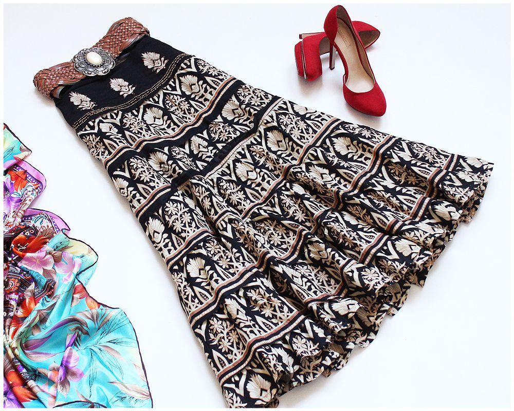 River Island Indyjska Kloszowa Spodnica Aztec 40 L 7206533996 Oficjalne Archiwum Allegro Cute Outfits Fashion Fingerless