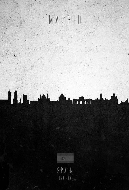 Madrid Contemporary Cityscape Alu Dibond Druck Jetzt Bestellen Unter:  Https://moebel.ladendirekt.de/dekoration /bilder Und Rahmen/poster/?uidu003d8971cau2026