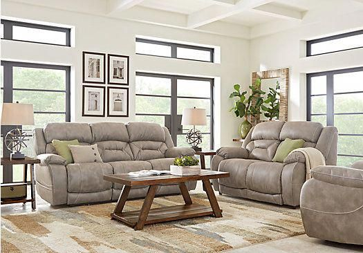 picture of griffin valley taupe 2 pc living room with power plus rh pinterest com