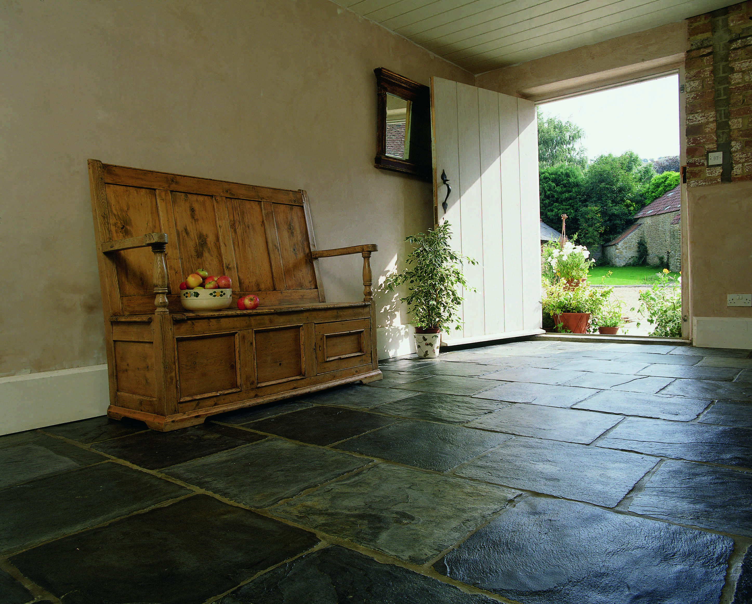 trevail slate with a riven finish from ca pietra hallway floors rh pinterest com