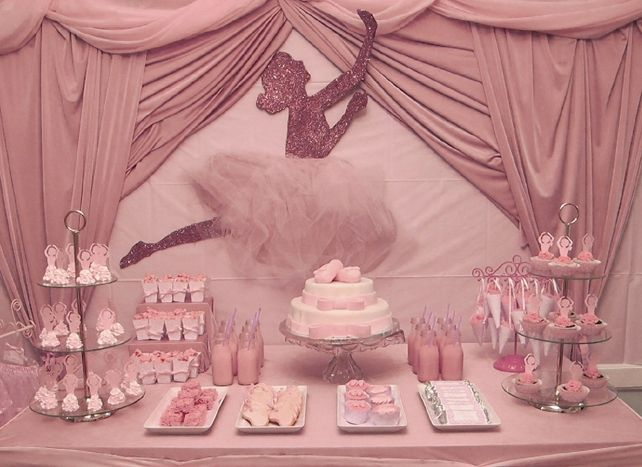Awesome Ballerina Baby Shower Centerpiece | Baby Shower Vintage Ballet