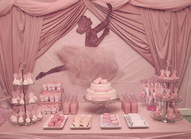 Ballerina Baby Shower Centerpiece