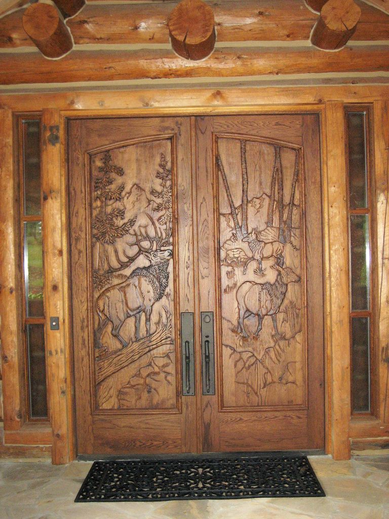 Entry wood doors wooden hand carved entry and cabinet for Wood front entry doors