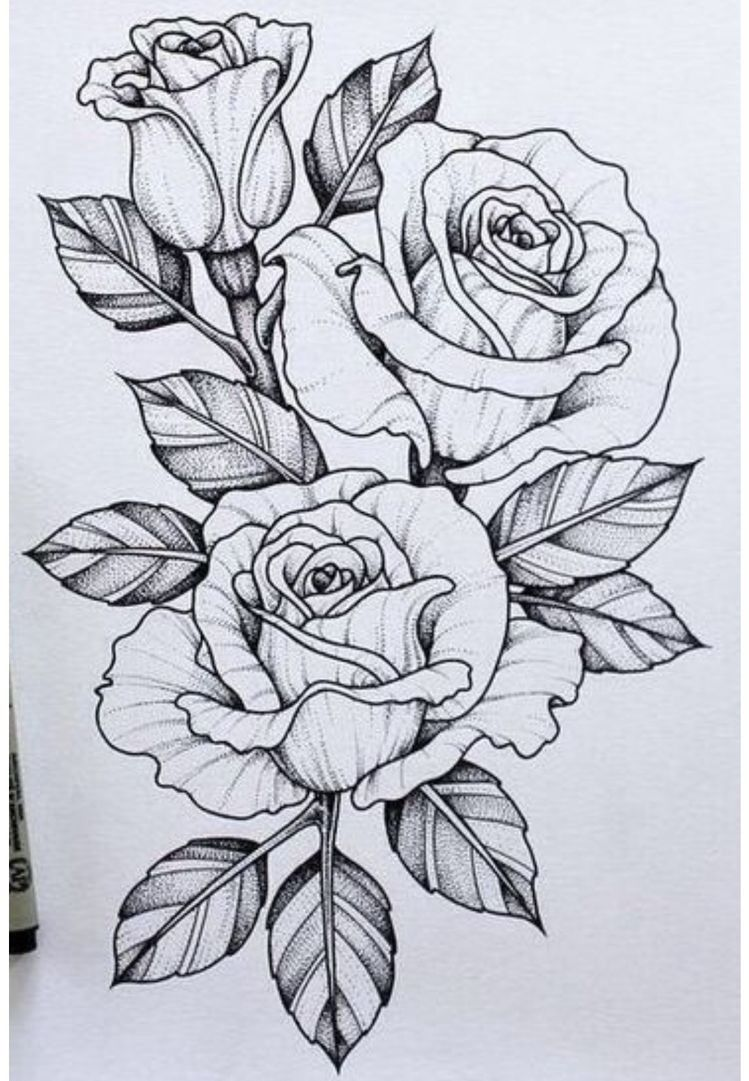 25 Beautiful Flower Drawing Ideas & Inspiration Tattoo