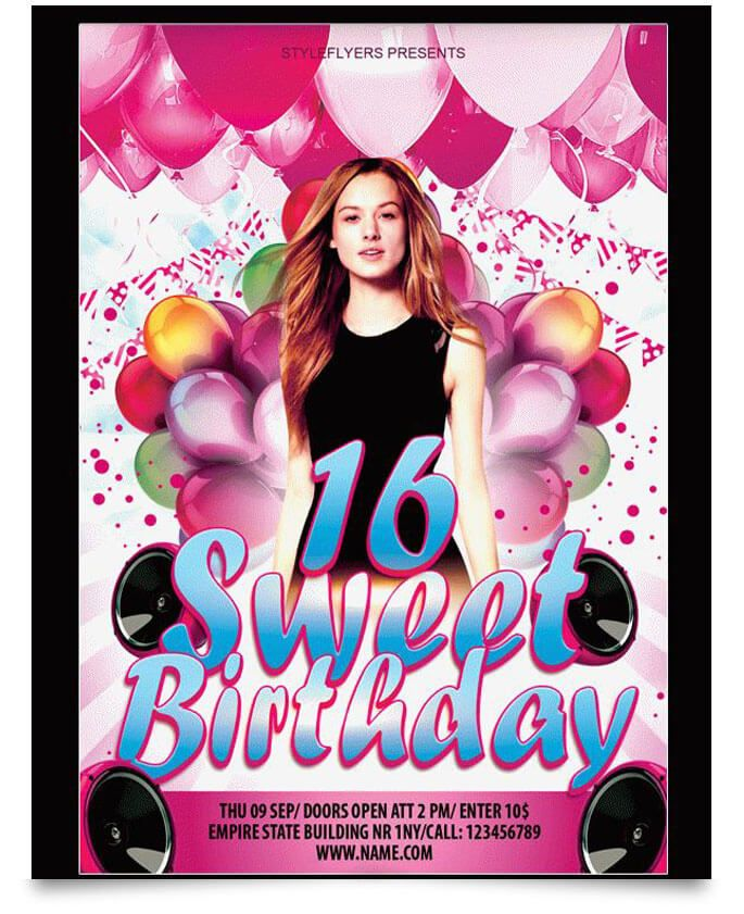 15 free birthday party flyer templates design desk pinterest