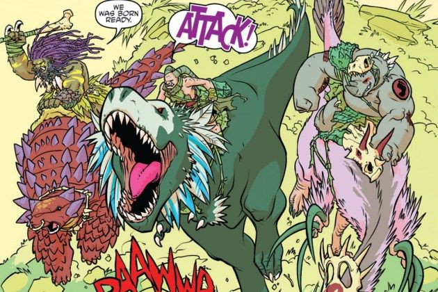 Riding Dinosaurs in Bebop And Rocksteady Destroy Everything #2