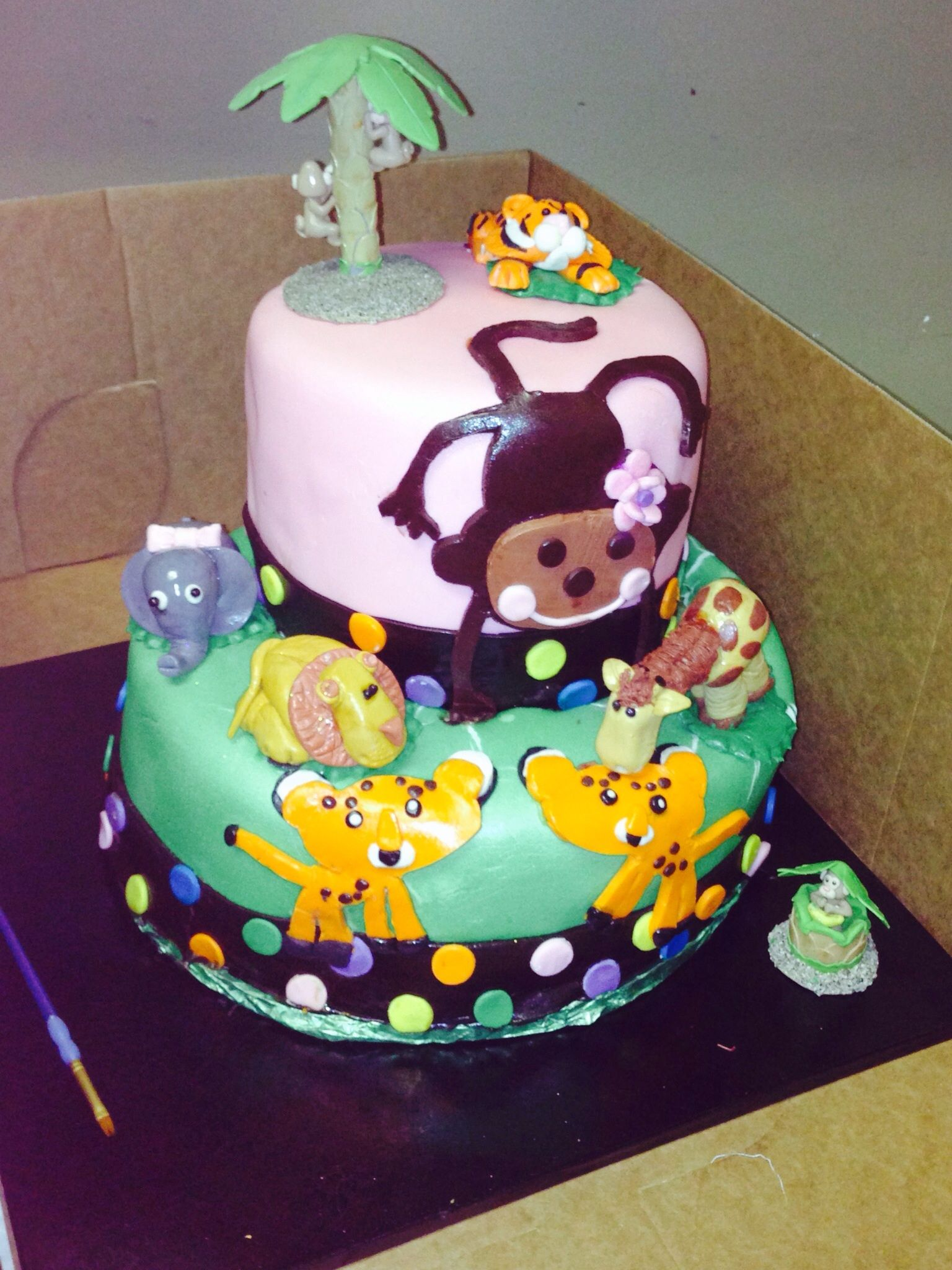 Fisher Price Jungle Theme Baby Shower Part - 15: Fisher Price Jungle Theme Baby Shower Cake