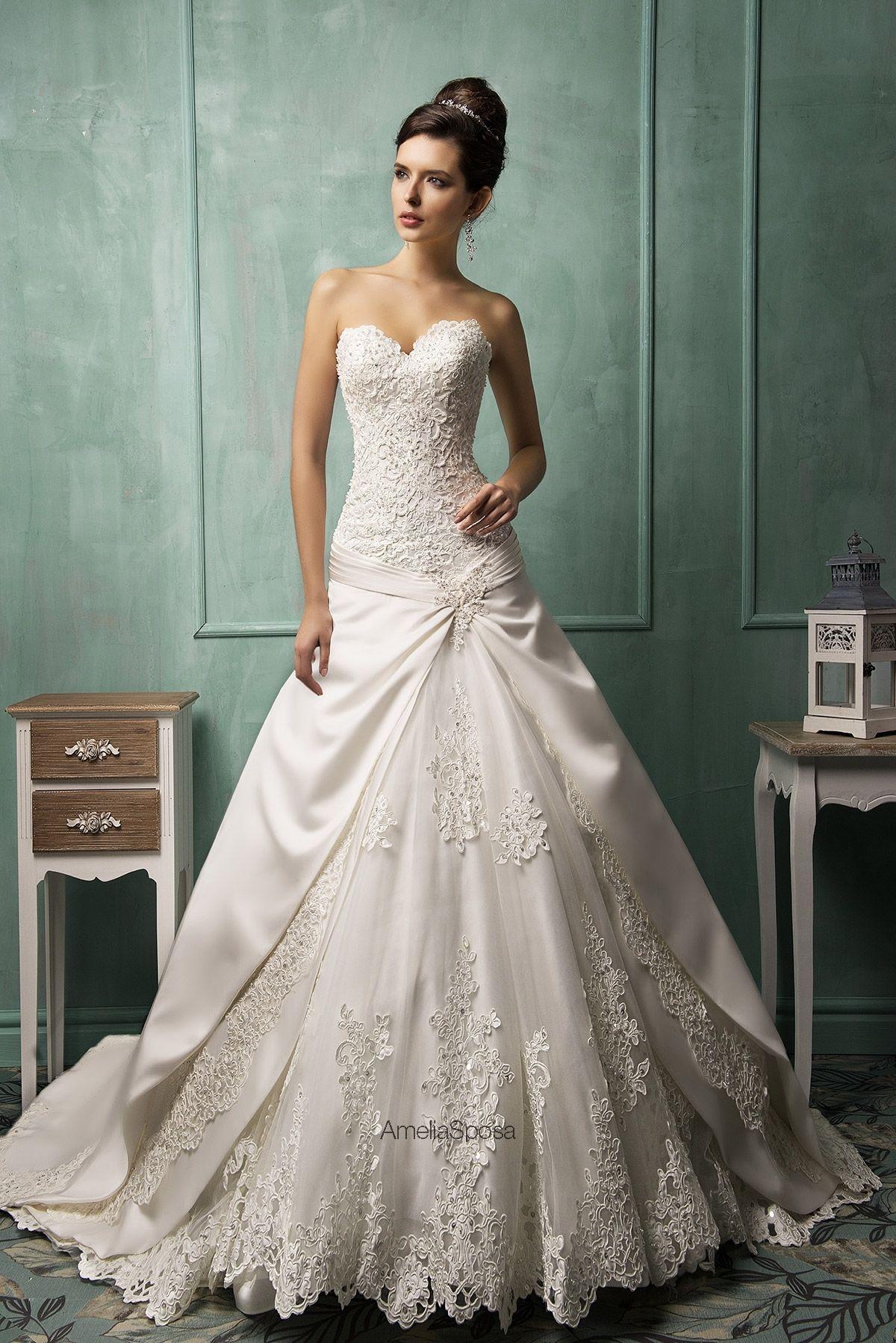 Amelia Sposa Wedding Dress Style Dalila Italian Wedding Dresses Empire Wedding Dress Sweetheart Wedding Dress