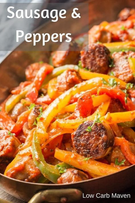 Photo of Italian Sausage, Peppers and Onions with Sauce
