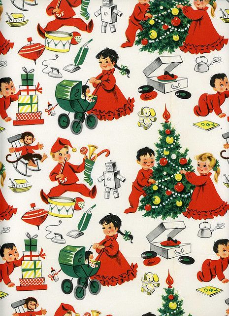 Wrapping Paper004 Vintage Christmas Wrapping Paper Christmas Paper Christmas Ephemera