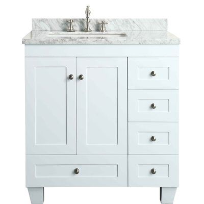 Darby Home Co Kyndra Transitional 31 Single Bathroom Vanity Set Base Finish White 30 Inch Bathroom Vanity White Vanity Bathroom Bathroom Vanity