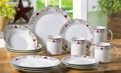 Country Star Twig Berries Ceramic Dinnerware 16 PC & Country Star Twig Berries Ceramic Dinnerware 16 PC | dinnerware ...
