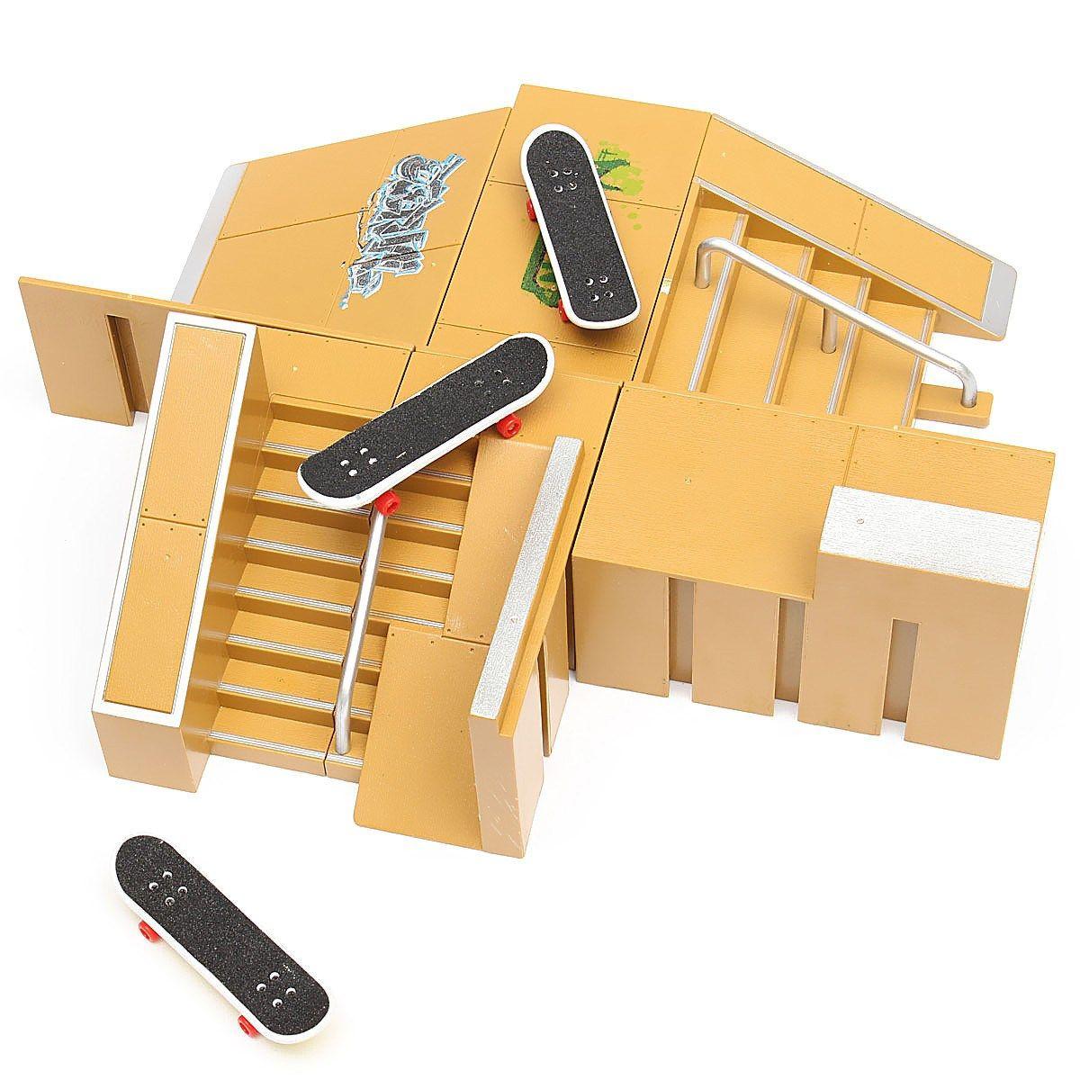 Skate Park Ramp Parts 3PCS Fingerboards Set For Tech Deck