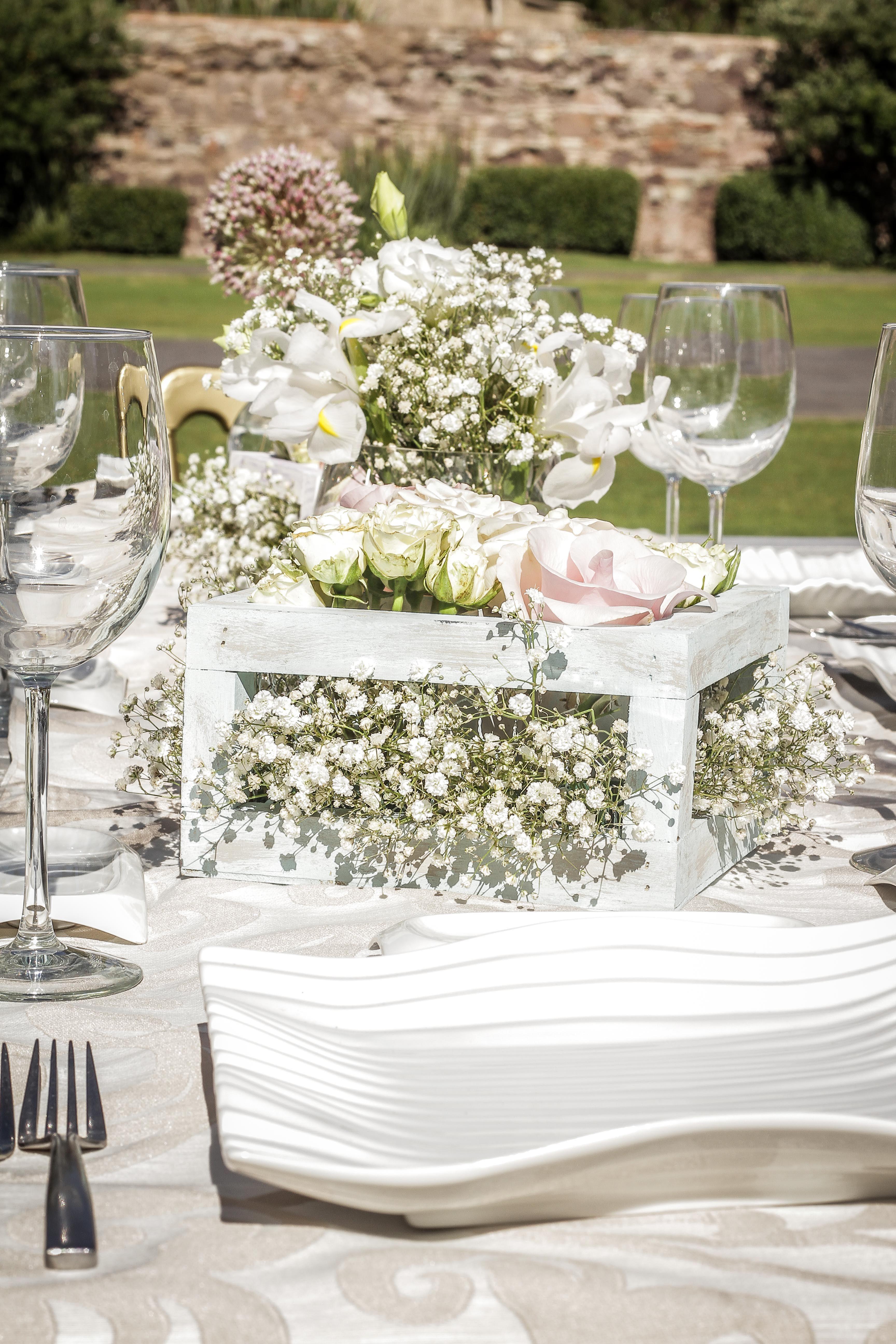 Flores centro de mesa merezzco shabby chic weddings - Mesa shabby chic ...