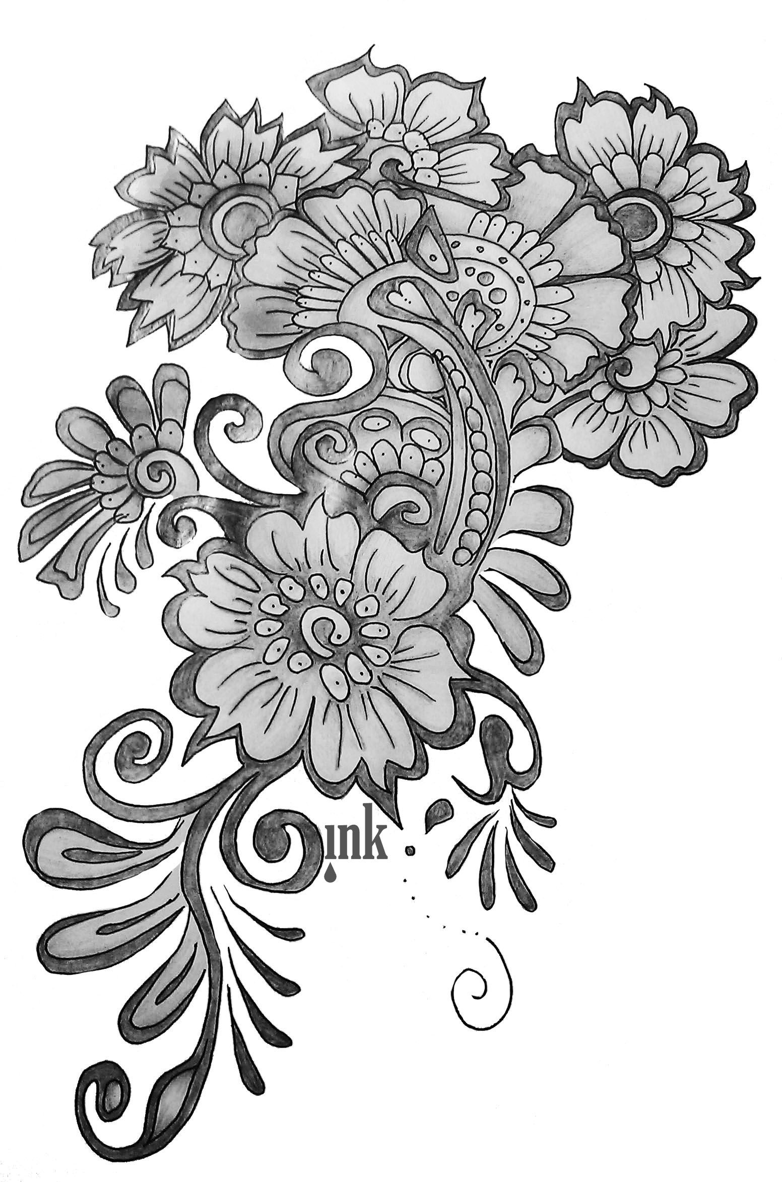 Flower design drawing how to draw a beautiful flower design drawing flower design drawing how to draw a beautiful flower design drawing flower designs free izmirmasajfo