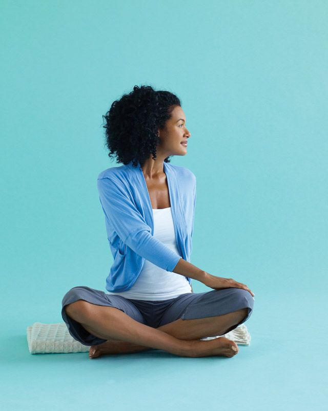 The Stress Rescue - Seated Twist- Yoga