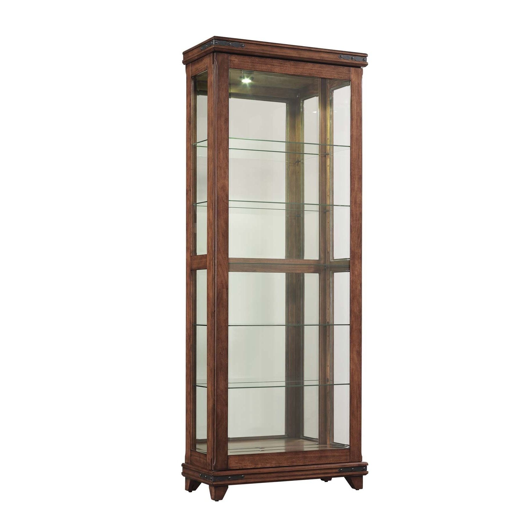 BellO Mayfield Cherry Curio Cabinet By CabinetsDisplay CabinetsShelvingDining Room