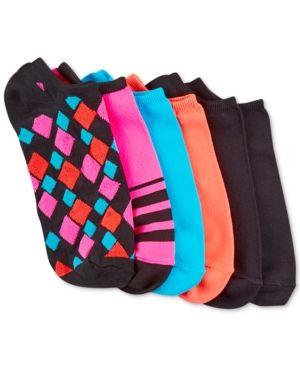 Hue Women's Microfiber Liner Socks 6 Pack - Tan/Beige