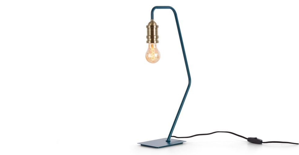 Starkey table lamp teal and brass made com