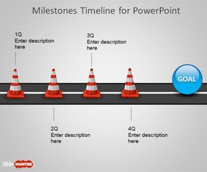 free milestone shapes timeline for powerpoint is a timeline design