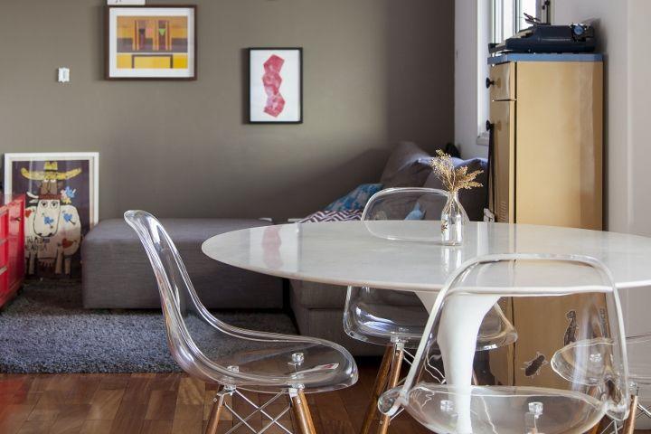 Decoração de: Sala de jantar - cadeira eiffel; Casa de Valentina