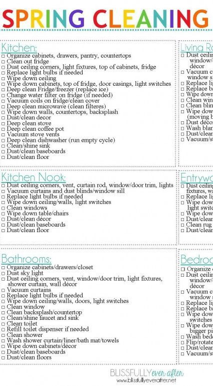 Spring cleaning tips \ a FREE checklist - Ask Anna {Home - spring cleaning checklist