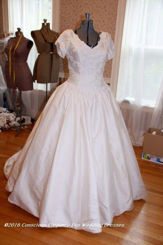 Vintage Wedding Dress 1980s -Modest Sweet & Simple Bridal 100 ...