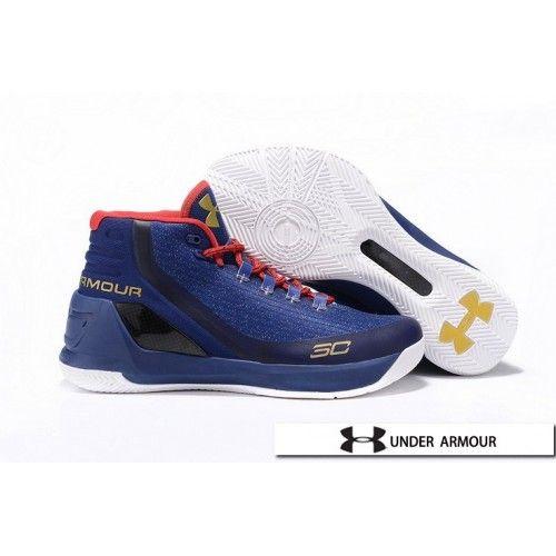 UA Curry 3 - Womens UA Curry 3 Royal Blue Red White Basketball Shoes ... d938a7f51a