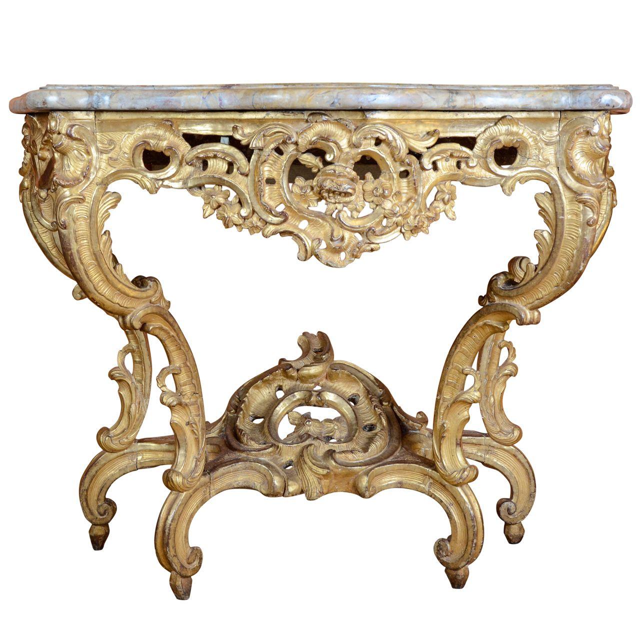 1stdibs com a louis xv giltwood console table 18th century rh pinterest es