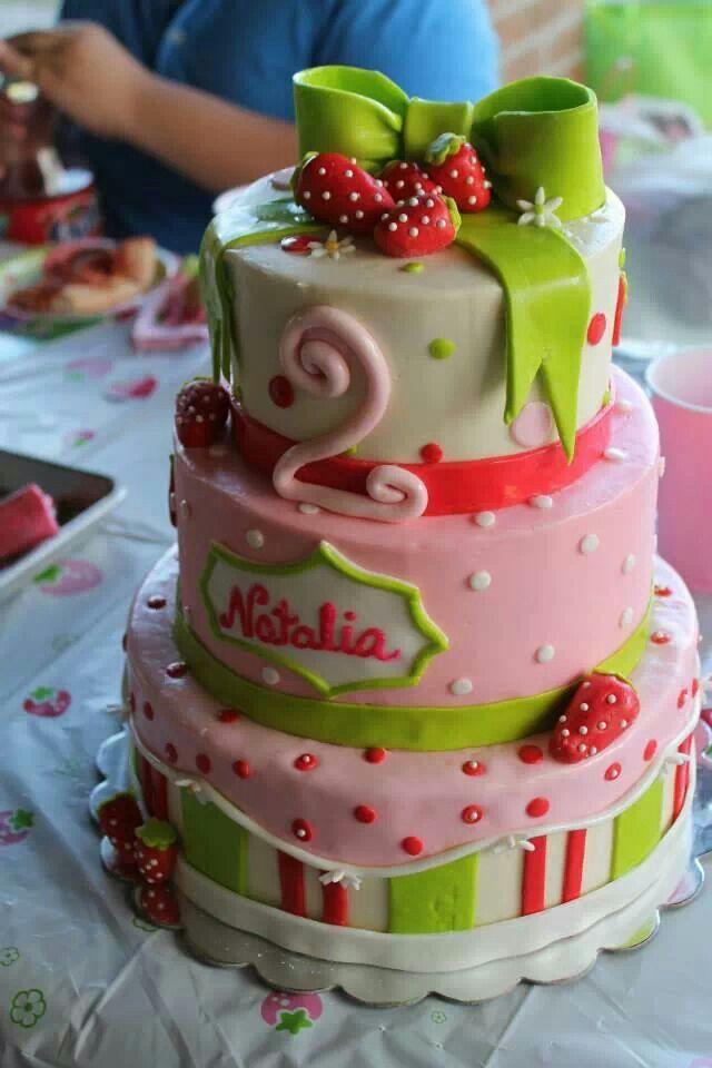 Prime Strawberry Shortcake Birthday Cake By Cakes By Gabriela Of Houston Funny Birthday Cards Online Necthendildamsfinfo